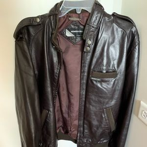 Chocolate brown Members Only leather jacket